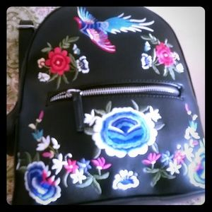 Handbags - EMBROIDERED BACKPACK